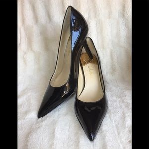 COLE HAAN Fiona Black Patent Leather Pumps